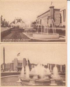 Brussels Expo 1935 Luxembourg Pavillion & Fountains