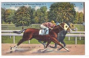 Close Finish, Race Tract, Saratoga Springs NY