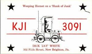 QSL Radio Card From New Brighton Pa. Pennsylvania KJI 3091