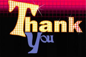 PACK of 3 New THANK YOU Postcards, Retro Disco 1970s Style