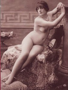 HR-05 - Risque French Postcard Handmade from a Photo of an Antique.