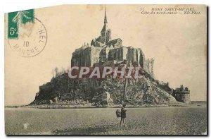 CARTE Postal Former Mont Saint Michel North West coast