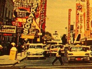 1950's Las Vegas, Nevada-Fremont St.-Street Scene