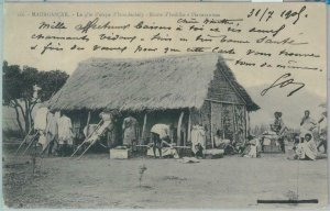80153 -  MADAGASCAR -  Vintage Postcard -  IVONDROKELY  1909 - Very Nice!!
