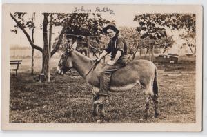 RPPC, Man on a Donkey