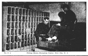 New Jersey Fort Dix Reception Center Fitting Shoes
