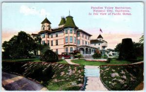 NATIONAL CITY, California CA   PARADISE VALLEY SANITARIUM  1915  Postcard