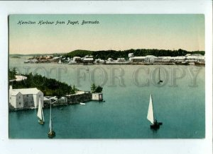 3090311 BERMUDA Hamilton Harbour from Paget Vintage PC