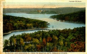 NJ - Lake Hopatcong. River Styx, Hotel Breslin in Distance