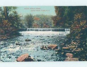 Pre-Chrome WATERFALL SCENE Ilion - Near Utica & Herkimer New York NY AG4248