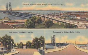 Maine Bath Approach To Bridge Woolwich Toll House State Of Maine Carlton Brid...