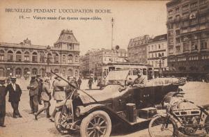 BRUXELLES , Belgium , 1910s; Voiture munie d'un eperon coupe-cables