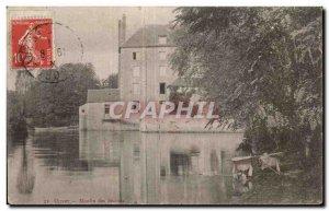 Old Postcard Olivet Moulin des Beches Lavoir Lavandiere