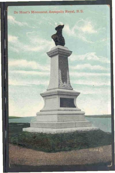 De Monts Monument, Annapolis Royal, NS Valentine & Sons PC