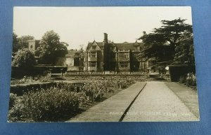 Vintage Real Photo  Postcard Manor Ashby St.Ledgers Northamptonshire G1C