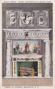 Washington D C Library Of Congress Mosaic Mantel History Representatives Read...