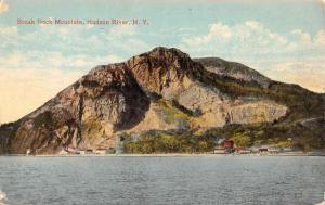 Hudson River New York Break Neck Mountain Waterfront Antique Postcard K94541