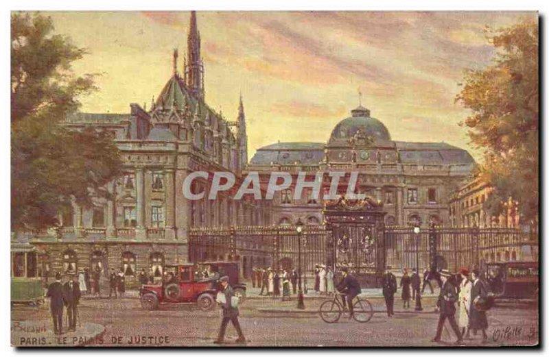 Old Postcard Paris Courthouse