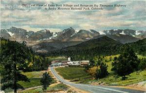 CO, Rocky Mountain National Park, Colorado, Estes Park Village, Thompson H-Way