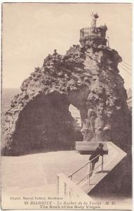France, BIARRITZ, Le Rocher de la Vierge, unused Postcard