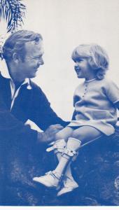 PGA Golfer Arnold Palmer & crippled child, March of Dimes , 1950s #2