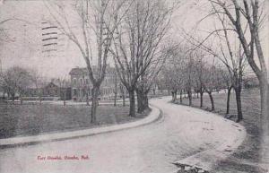 Nebraska Omaha Fort Omaha Street Scene 1908