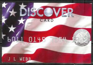 USA 2008, Discover Card Advertising card - US Flag, unused