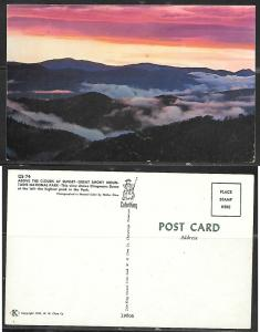 1955 Great Smoky Nat'l. Park TN, Clouds at Sunset