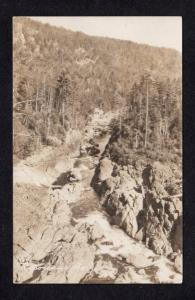 ME Ripogenus Gorge Penobscot River Caribou Lake MAINE RPPC Real Photo Postcard