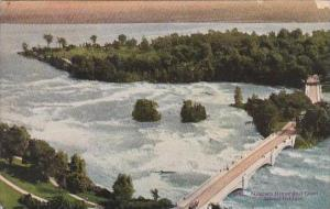 New York Niagara Falls Niagara River And Goat Island Bridge