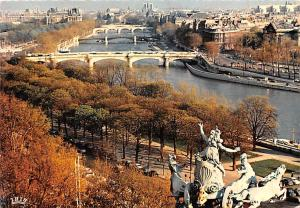 Paris France Panorama su la Seine Paris Panorama su la Seine