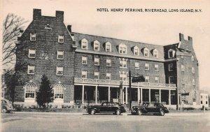 Hotel Henry Perkins, Riverhead, Long Island, N.Y., Early Postcard, Unused