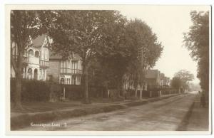 Kent; Kennington Lees no 3 RP PPC, Unposted c 1920s