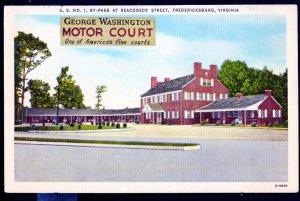 Virginia FREDERICKSBURG George Washington Motor Court US No 1 Seacobeck Str - L
