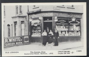 London Postcard - The Corner Shop, Badminton Road, Balham c.1912 - X924
