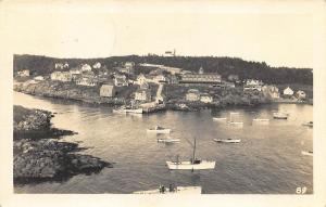Monhegan ME Island and Harbor Lorimer E. Brackett RPPC