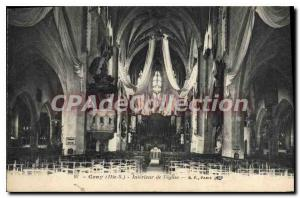 Postcard From Old Gray Interior I'Eglise