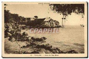 Old Postcard Toulon Anse Du Cap Brun