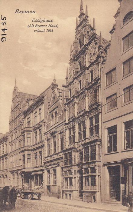 Essighaus, Alt-Bremer-Haus Erbaut 1618, BREMEN, Germany, 1900-1910s