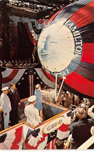 Submarines Post Card Old Vintage Antique Postcard Nuclear Submarine launching...