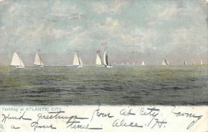 Atlantic City New Jersey~Sailboats Yachting~1907 UDB TUCK Postcard