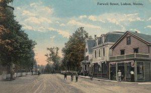 LISBON , Maine , PU-1922 ; Farwell Street