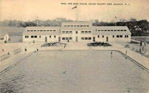 RAHWAY NEW JERSEY~POOL & BATH HOUSE~UNION COUNTY PARK-MAYROSE PHOTO POSTCARD