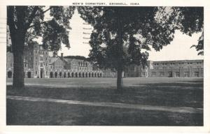 Grinnell Iowa IA ~ Grinnell College Men's Dormitory Linen Postcard