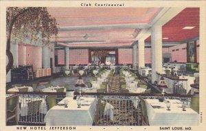 Missouri St Louis Club Continental Restaurant Hotel Jefferson Curteich
