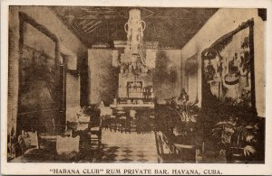Havana Cuba Habana Club Rum Private Bar Advertising Unused Postcard G82