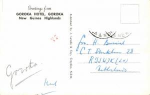 papua new guinea, Highlands, GOROKA, Goroka Hotel (1950s) RPPC
