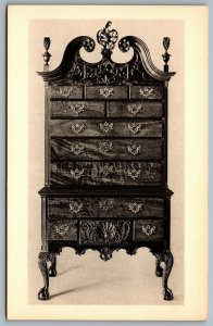 Postcard Winterthur DE c1960s Mahogany High Chest of Drawers Philadelphia c1765