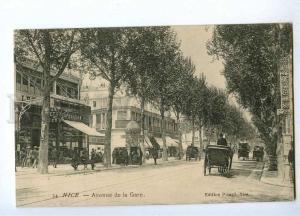 191418 FRANCE NICE Avenue de la Gare street ADVERTISING Old