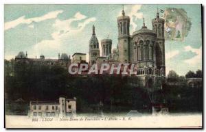 Lyon Old Postcard Notre Dame de Fourviere L & # 39abside